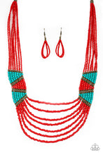 Load image into Gallery viewer, Kickin It Outback & Outback Outing Red Necklace & Bracelet Set 1188S