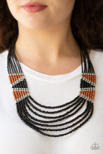 Load image into Gallery viewer, Kickin It Outback & Outback Outing Black Necklace & Bracelet Set 1188S