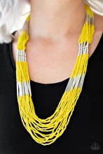 Load image into Gallery viewer, Let It BEAD - Yellow Necklace 79n