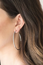 Load image into Gallery viewer, Make The FIERCE Move - White Hoop Earring 2538E