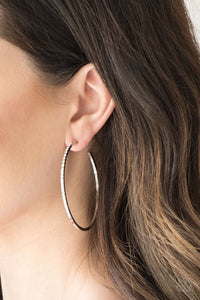 Make The FIERCE Move - White Hoop Earring 2538E
