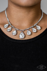 Love At FIERCE Sight - White Necklace 1182N