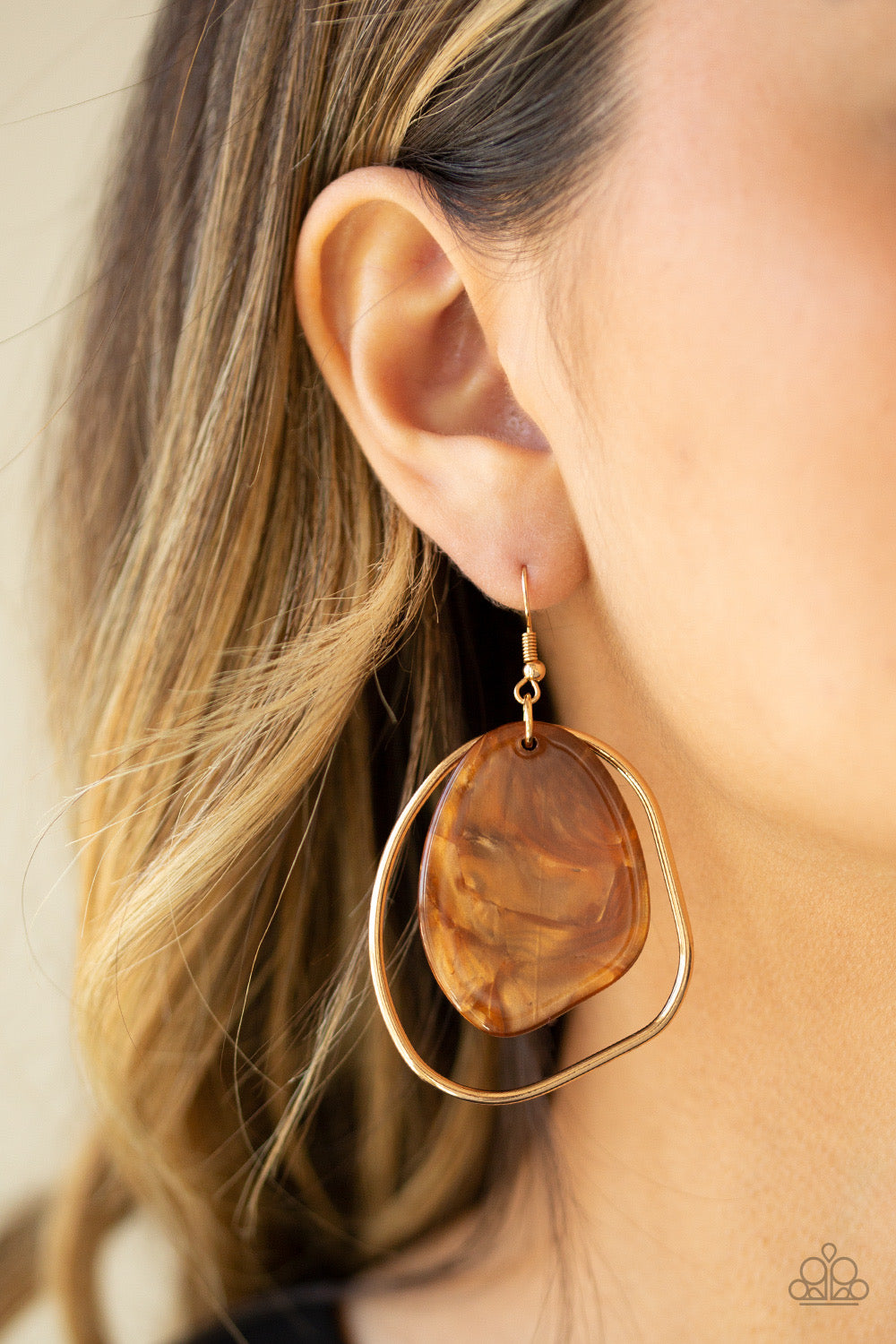 HAUTE Toddy - Brown Earring 15E