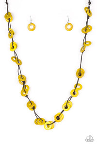 Waikiki Winds - Yellow Necklace 1210N