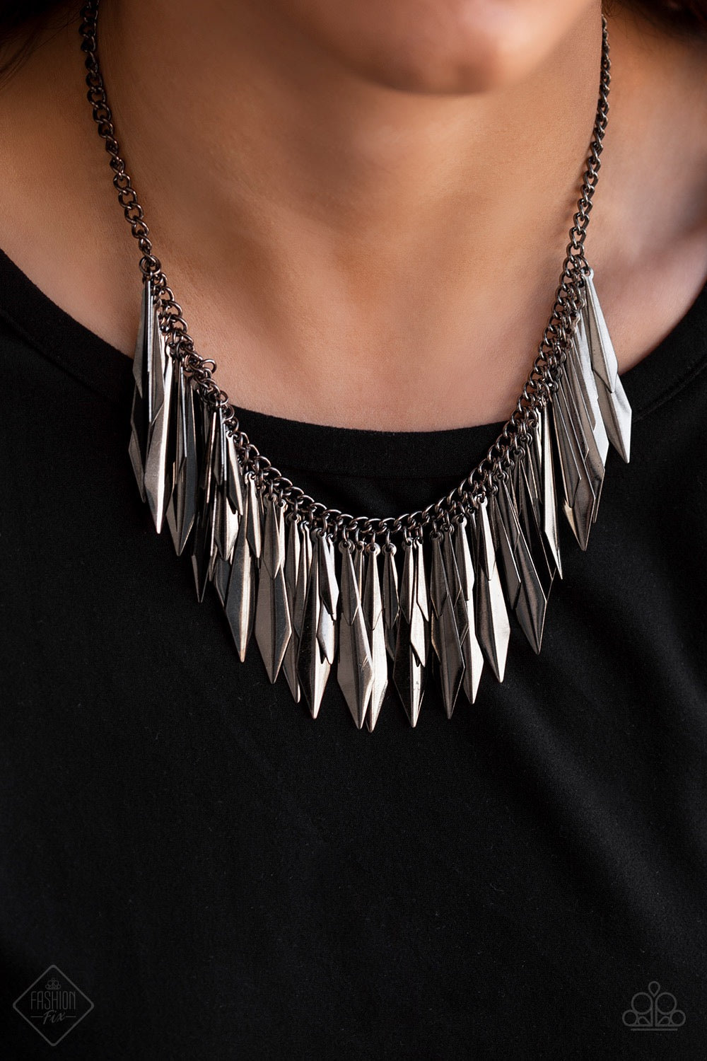 The Thrill - Seeker Gunmetal Necklace