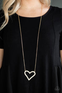 Pull Some HEART - strings - Gold Necklace 1134N