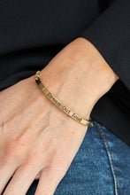 Load image into Gallery viewer, Dream Out Loud - Gold Bracelet 1676B