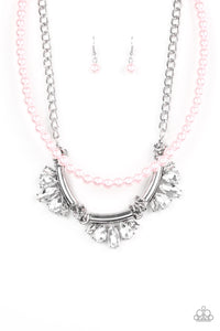 Bow Before The Queen - Pink Necklace 83n