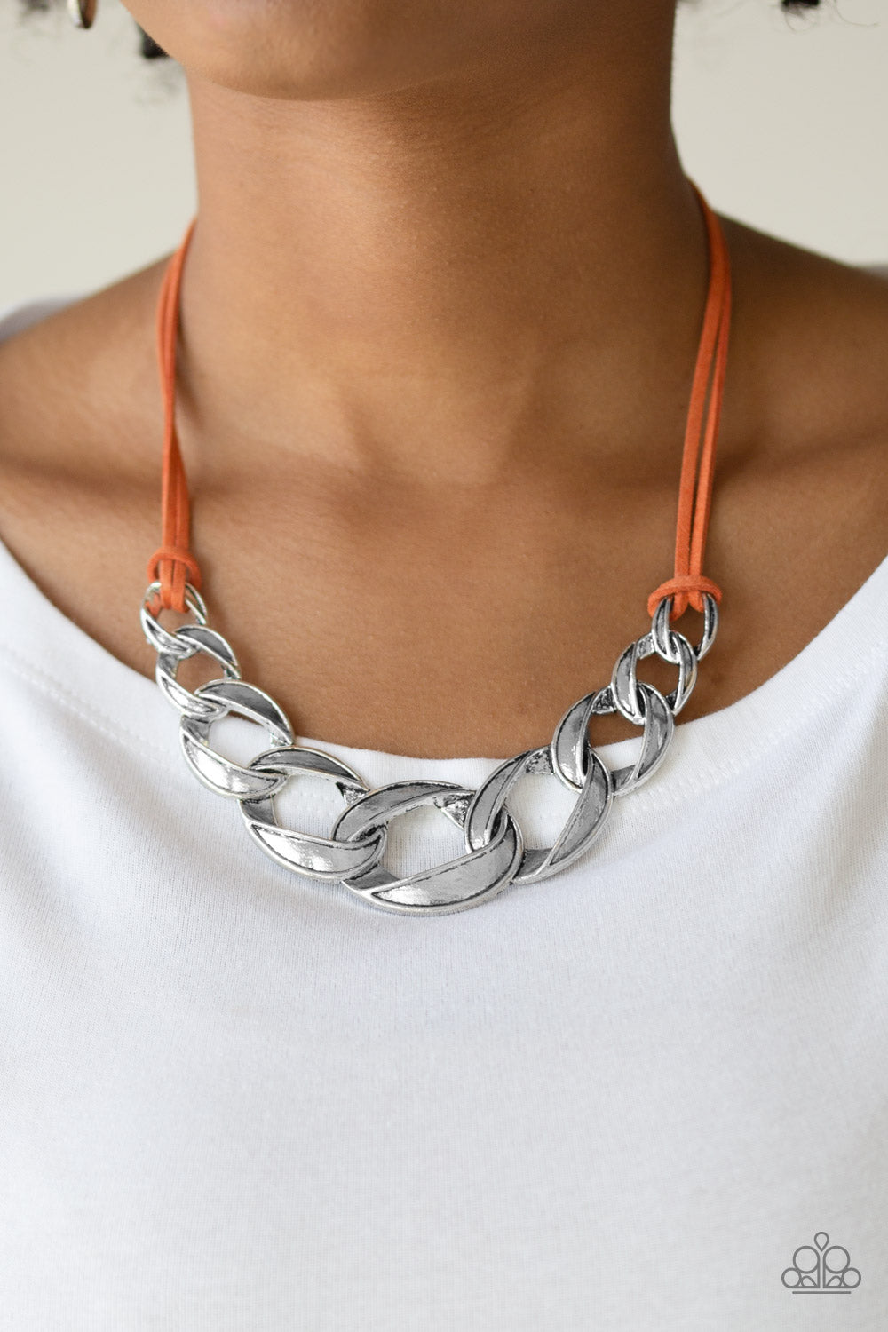 Naturally Natural - Orange Necklace