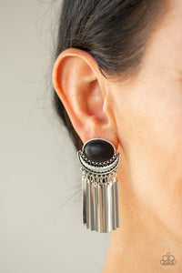 Moonstone Season - Black Earring 2694E