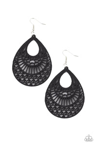 Shoulda Coulda WOODa - Black Earring 2670E
