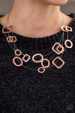 Load image into Gallery viewer, GEO - Ing Strong - Copper Necklace 1175N