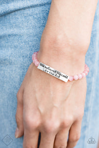 So She Did - Pink Bracelet