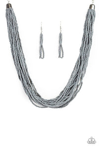 The Show Must CONGO On ! - Silver Seed Bead Necklace 1304N