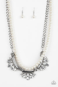 Bow Before The Queen-White Necklace