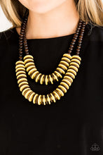 Load image into Gallery viewer, Dominican Disco - Yellow Necklace