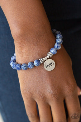 FAITH It, Till You Make It - Blue Bracelet