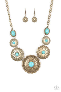 Mayan Marvel - Brass Necklace 1214N