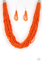 Load image into Gallery viewer, The Show Must CONGO On ! - Orange Seed Bead Necklace 1304N