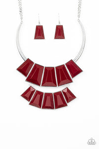 Lions,TIGRESS, and Bears - Red Necklace 66n