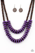 Load image into Gallery viewer, Dominican Disco - Purple Necklace 1208N