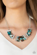 Load image into Gallery viewer, HAUTE - Blooded - Blue Necklace 63n