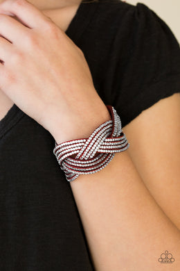 Big City Shimmer - Red Bracelet