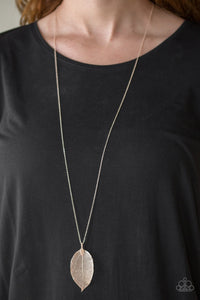 Fall Foliage - Gold Necklace