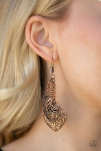 Load image into Gallery viewer, Once Upon A Heart - Copper Earring 106E