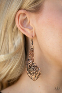 Once Upon A Heart - Copper Earring 106E