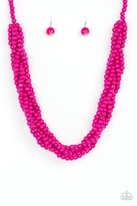 Tahiti Tropic - Pink Necklace