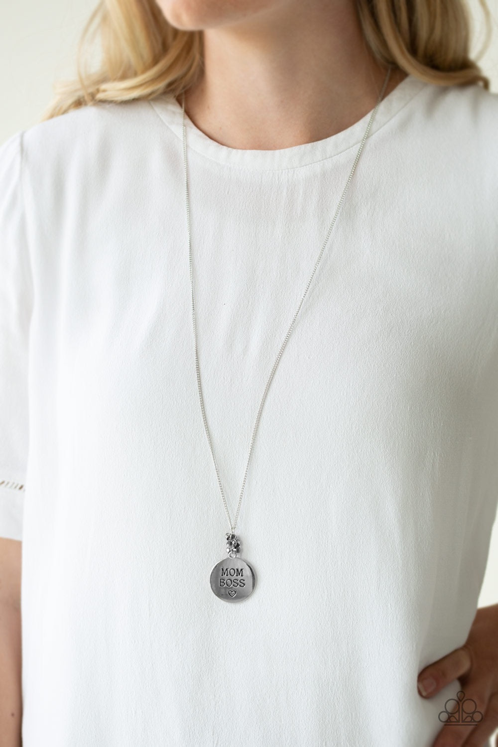 Mom Boss - Silver Necklace 2573N