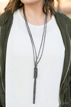 Load image into Gallery viewer, Boom Boom Knock Out - Black Necklace 38n