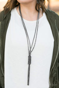 Boom Boom Knock Out - Black Necklace 38n