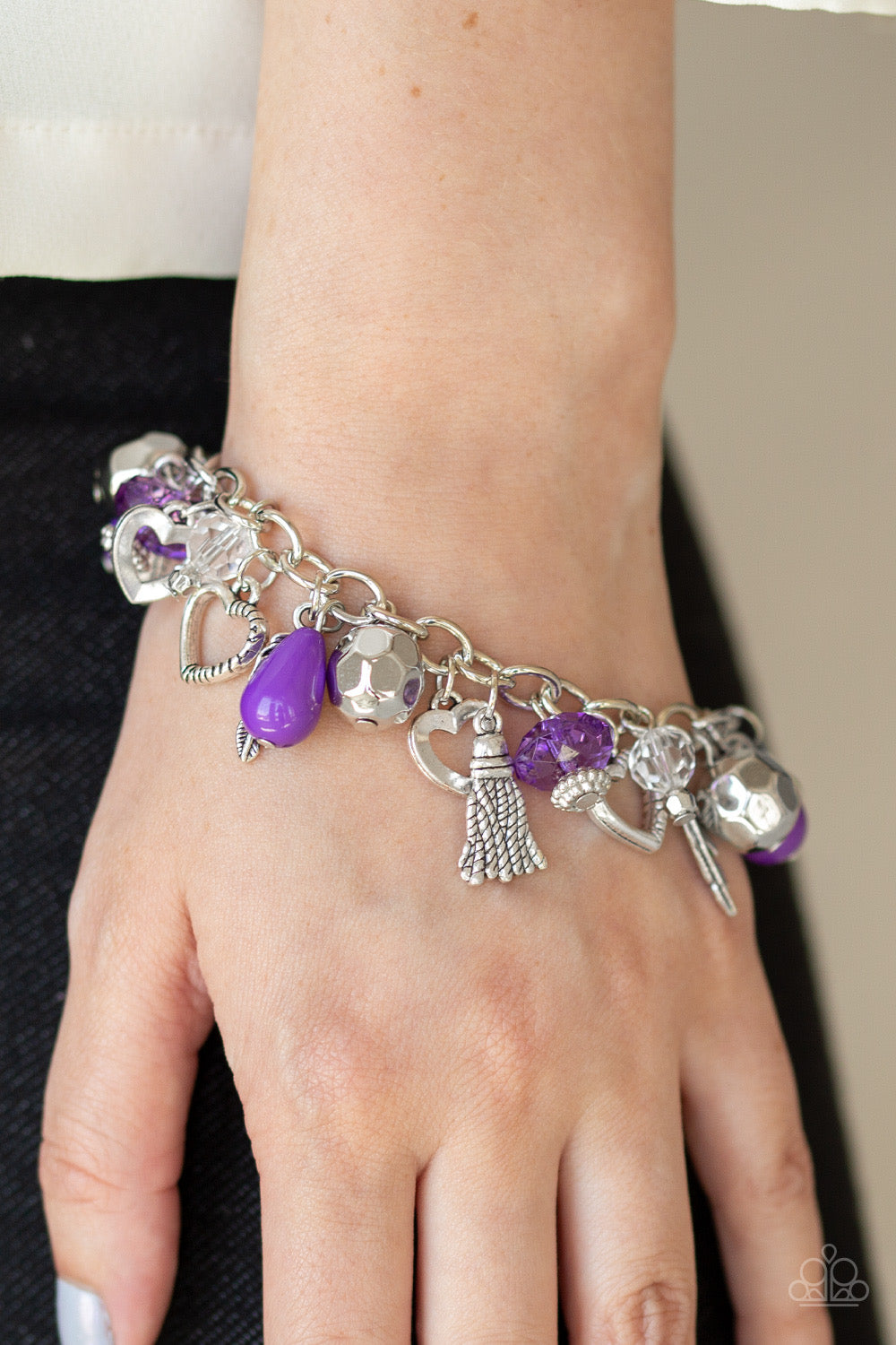 Charmingly Romantic - Purple Bracelet 1566B