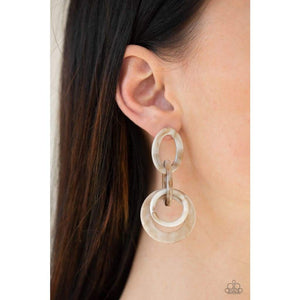 Havana HAUTE Spot - Brown Earrings Post 2541E