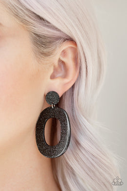 Miami Boulevard - Black Earring Post