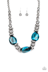 Colorfully Confident  -  Blue Necklace