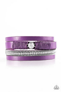Catwalk Craze - Purple   Urban Bracelet