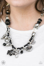 Load image into Gallery viewer, Charmed, I Am Sure - Black Blockbuster Necklace