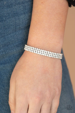 Stacked Decked - White Bracelet