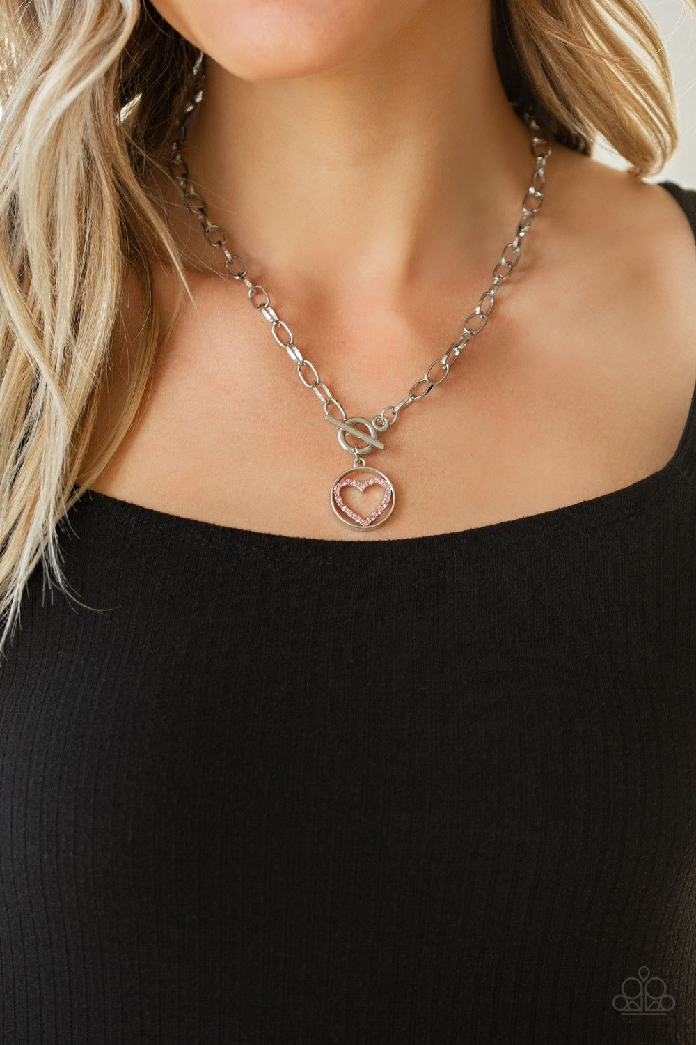 With My Whole Heart - Pink Necklace 1139N