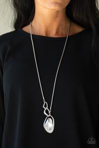 Optical Opulence - White Necklace 1150N