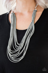 Peacefully Pacific - Silver Necklace 67n