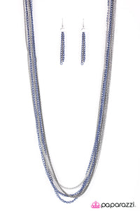 Colorful Calamity - Blue Necklace 2601N