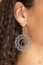Load image into Gallery viewer, Wreathed in Whimsicality - Black Earring 2692E