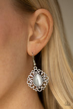 Load image into Gallery viewer, Totally GLOWN Away - White Earring 2652E
