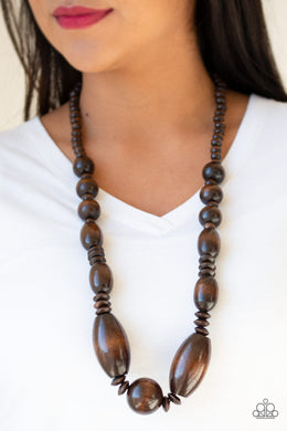 Summer Breezin' - Brown Necklace