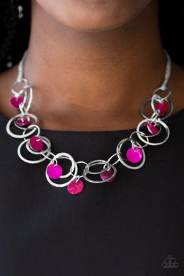 A Hot SHELL - er Necklace & Total SHELL -Out - Pink Bracelet 1083n