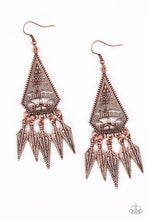 Load image into Gallery viewer, Me Oh MAYAN - Copper Earring